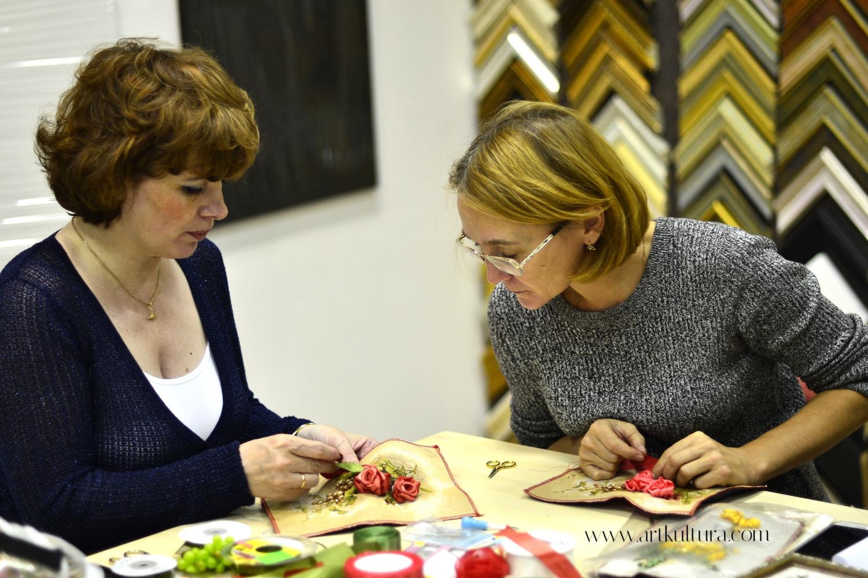 Мастер-класс Вышивка лентами. Розы