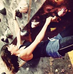 Angela Peters Rock climber