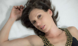 angela Peters laying down