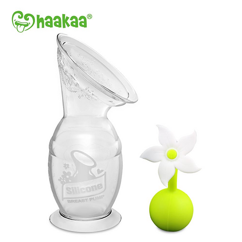 Haakaa 150ml Breast Pump & White Flower Stopper Pack