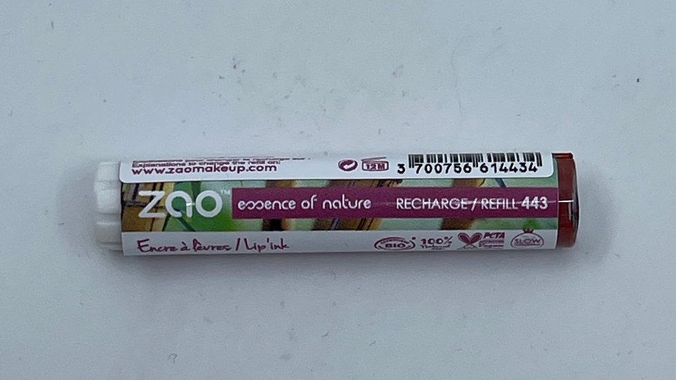 Recharge encre à lèvres cocoon 443 fraise ZAO