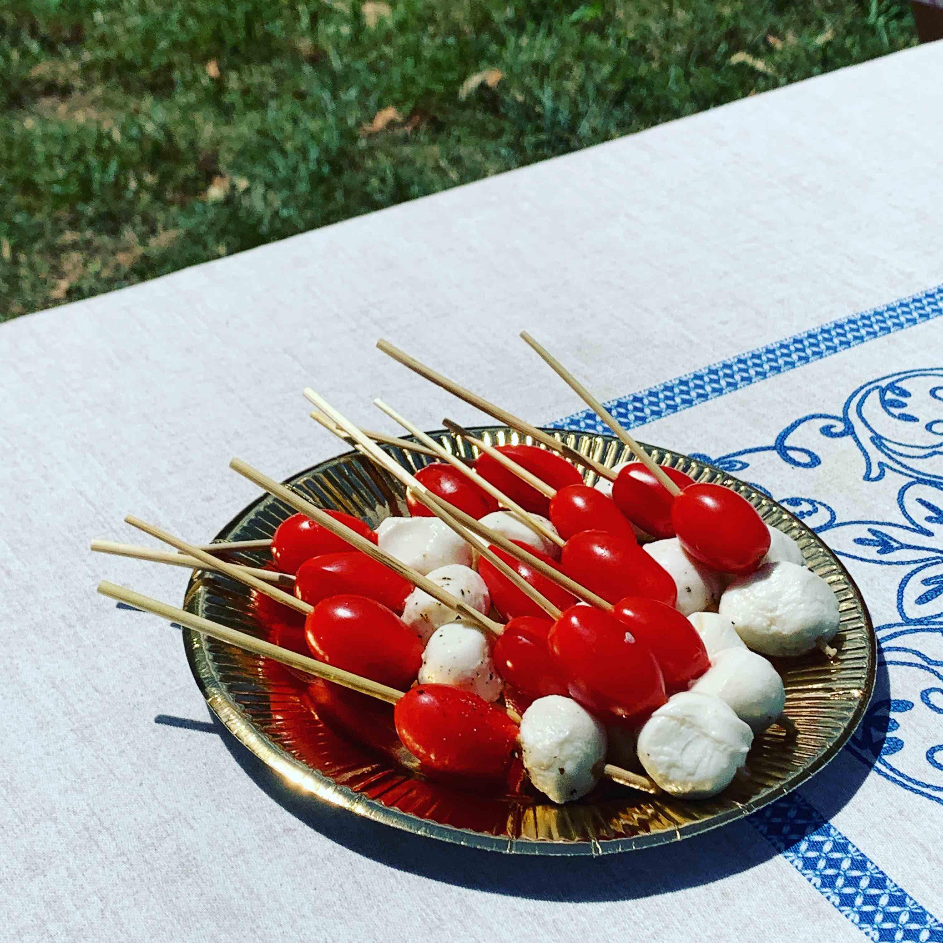 ipaille brochette mozza tomate