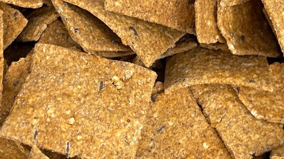 Cracker duo de lin et piment d'Espelette bio