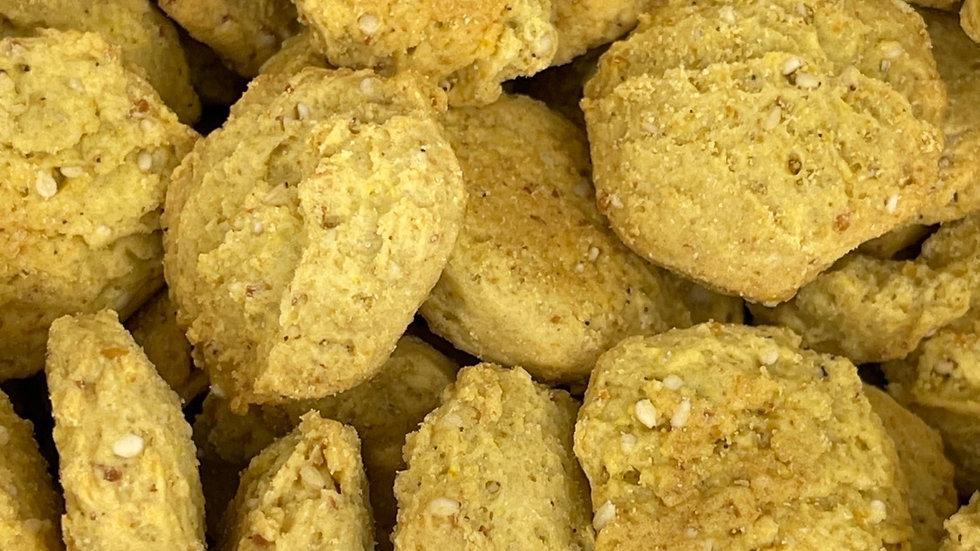 Biscuit apréritif cumin et pois chiche bio