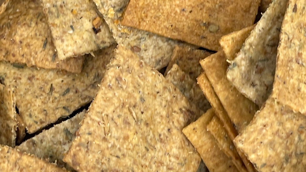 Cracker thym et drêche bio