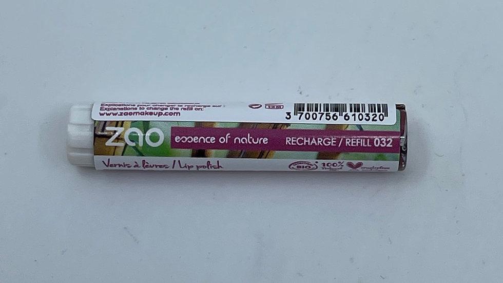 Recharge vernis à lèvres 032 prune nacrée ZAO