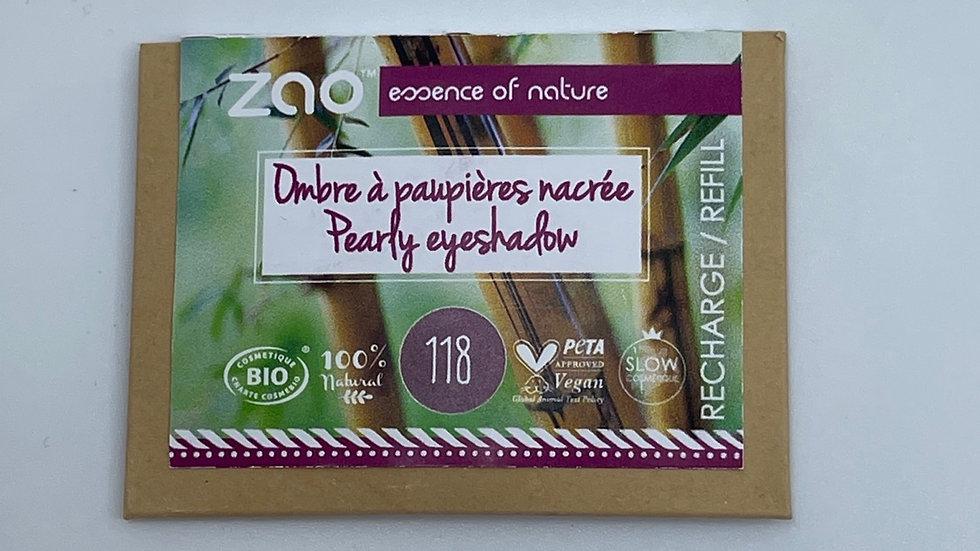 Recharge ombre à paupières nacrée 118 prune ZAO