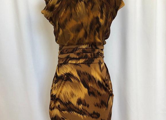 Diane Von Furstenberg Leopard Dress, Size 4