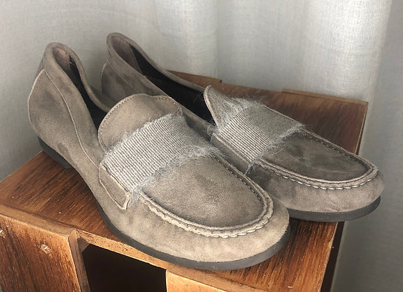AGL Gray Suede Loafer