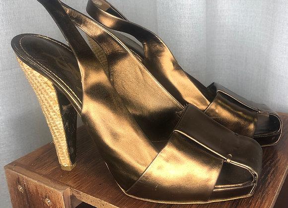 YSL Sling Back Sandal, Size 8.5