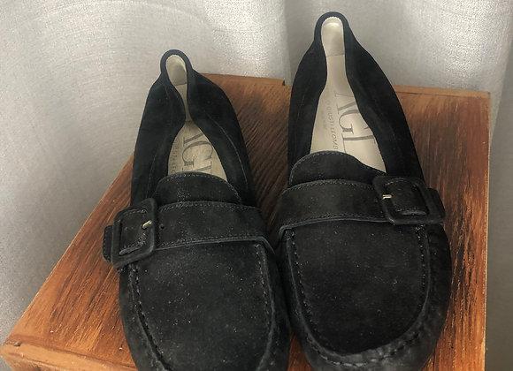 AGL Black Suede Loafer