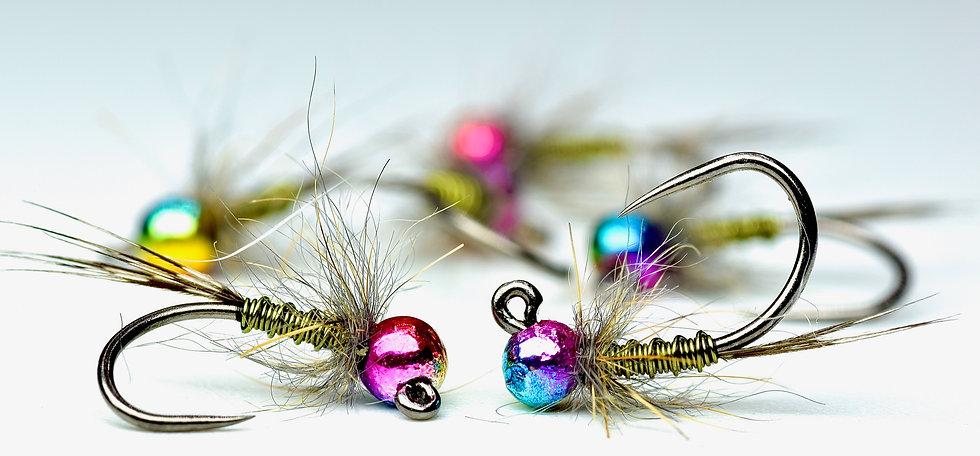Rainbow bead olives