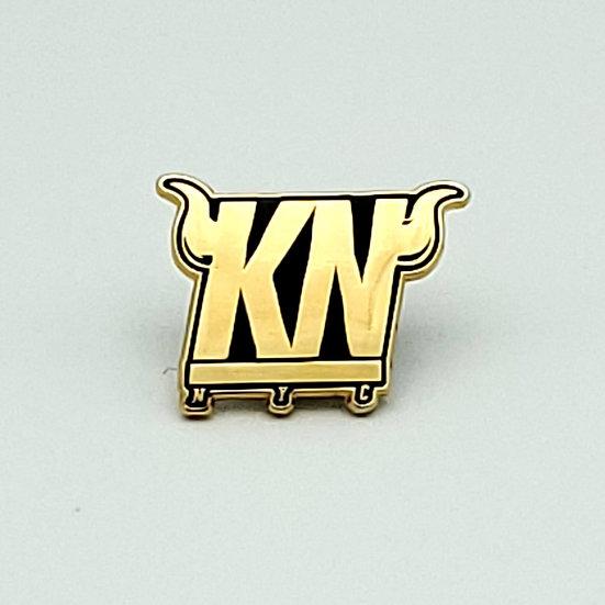 """KHAN NYC """"KN"""" PIN"""
