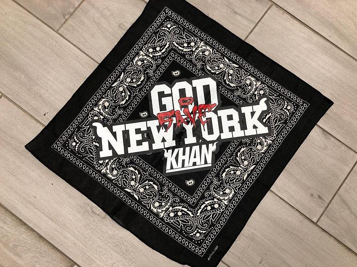 """KHAN NYC """"GOD SAVE NEW YORK"""" BANDANA"""