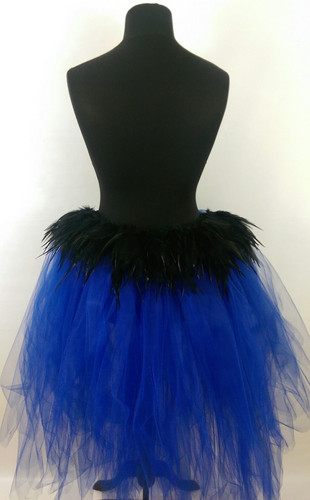 2ce842fe7 High Low Tutu Featuring Black Rooster Feathers