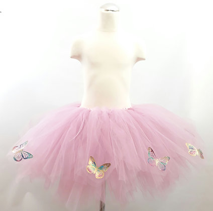 Adult Pink Tutu Featuring Sparkly Butterflies