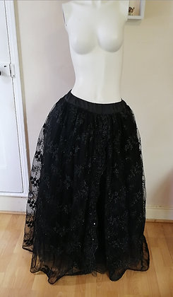 Full length Lace and Tulle Skirt