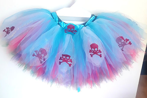 Adult Unisex Pirate Skull & Crossbones Multi Layered Tutu