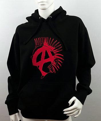 Punk Anarchy Lightweight Unisex Black Hoodie