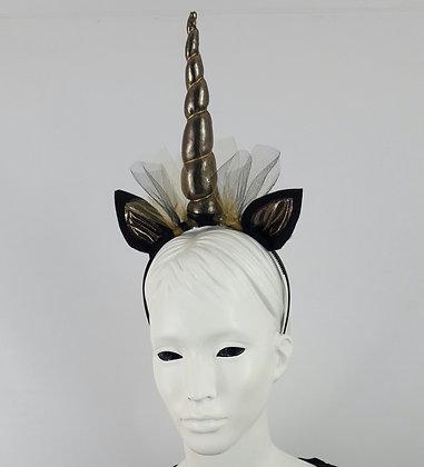 Gold and Black Unicorn Headband