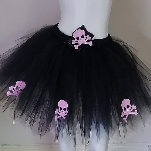 Unisex Candy Pink Skull & Cross Bones Tutu