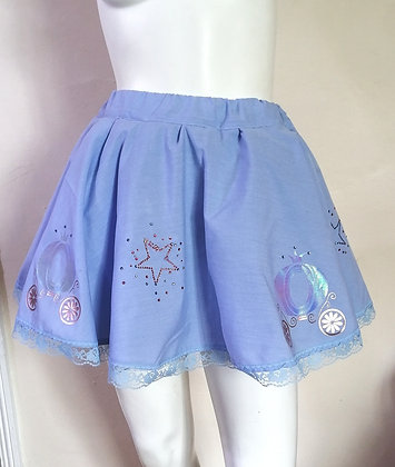 Unisex Cinderella Inspired Skirt Featuring Rhinestones and Carriages