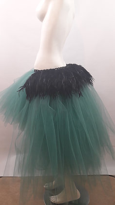 Black Feather High Low Tutu