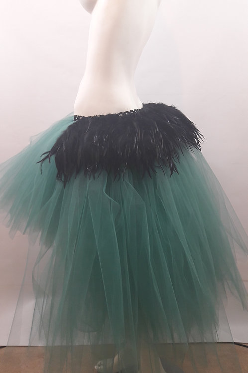 Black Feather High Low Tutu