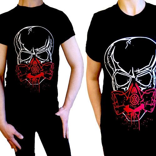 Cyber Goth Cyber Skull Cyber Mask Turmoil Unisex T-shirt
