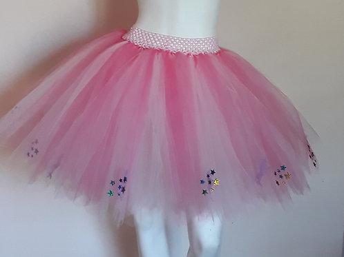 Pink Unicorns & Rainbow Stars on a Light Pink & Coral Tutu