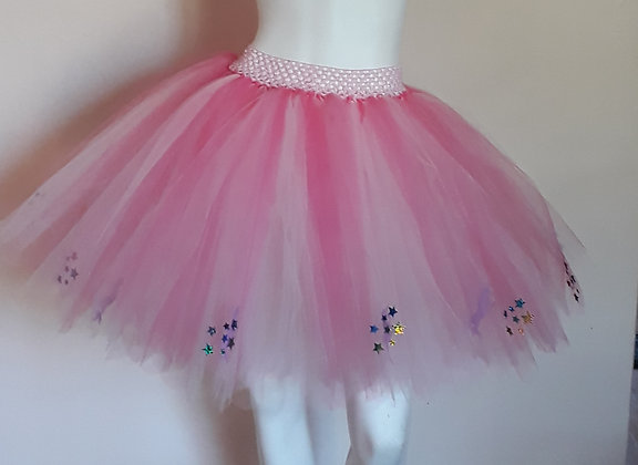 Pink Unicorns & Rainbow Stars on a Light Pink & Coral Tutu