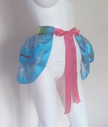 Blue Sequin and Rainbow Tie on Bustle
