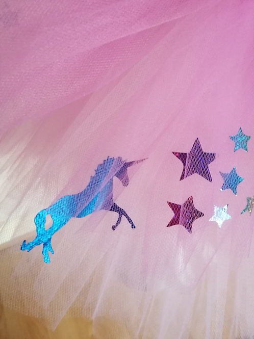 Blue Unicorns and Sparkly Stars Adult Tutu