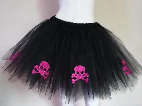 Unisex Hot Pink Skull & Cross Bones Tutu