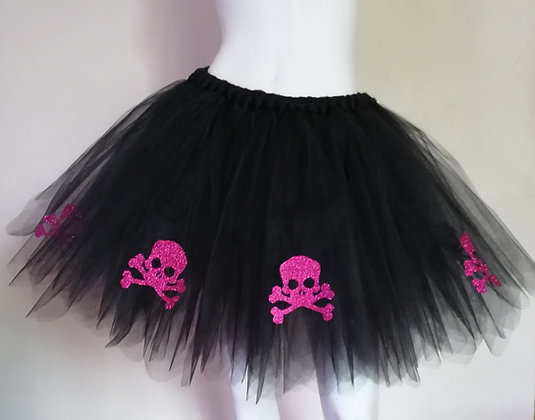 Unisex Hot Pink Skull & Cross Bones Tutu