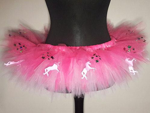 Pink Unicorns & Sparkly Stars Pink Tutu