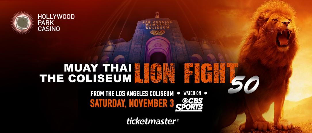 LION FIGHT 50 BILLBOARD