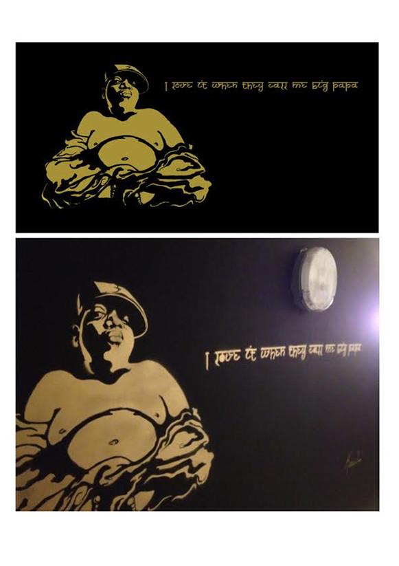 Biggie Buddha Mural
