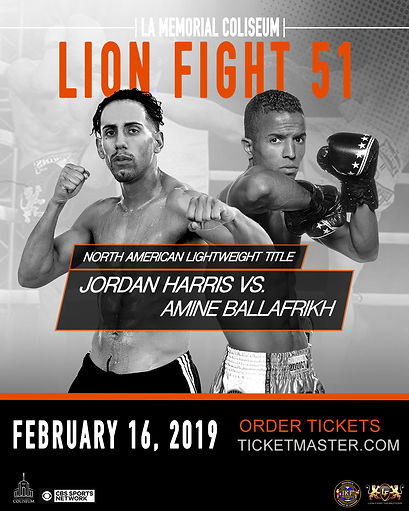 lionfight 51 fighter vs fighter poster h