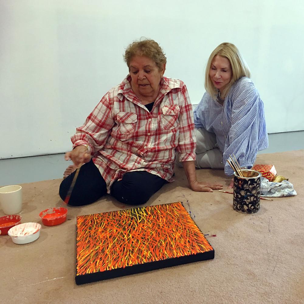 Nadia Phillips meeting Barbara Weir