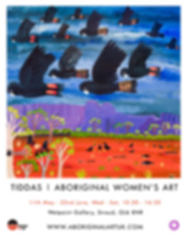 Tiddas exhibition poster