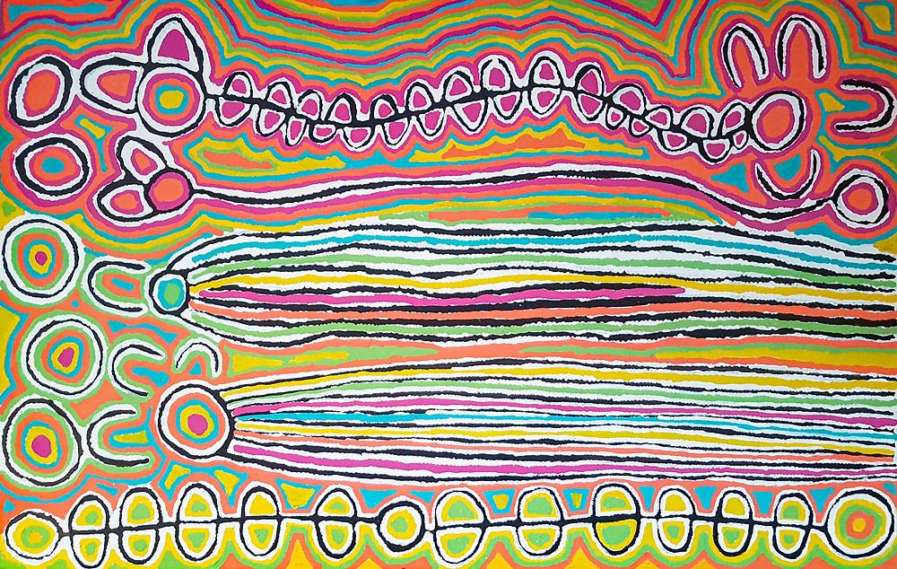 'Mina Mina' by Judy Watson Napangardi