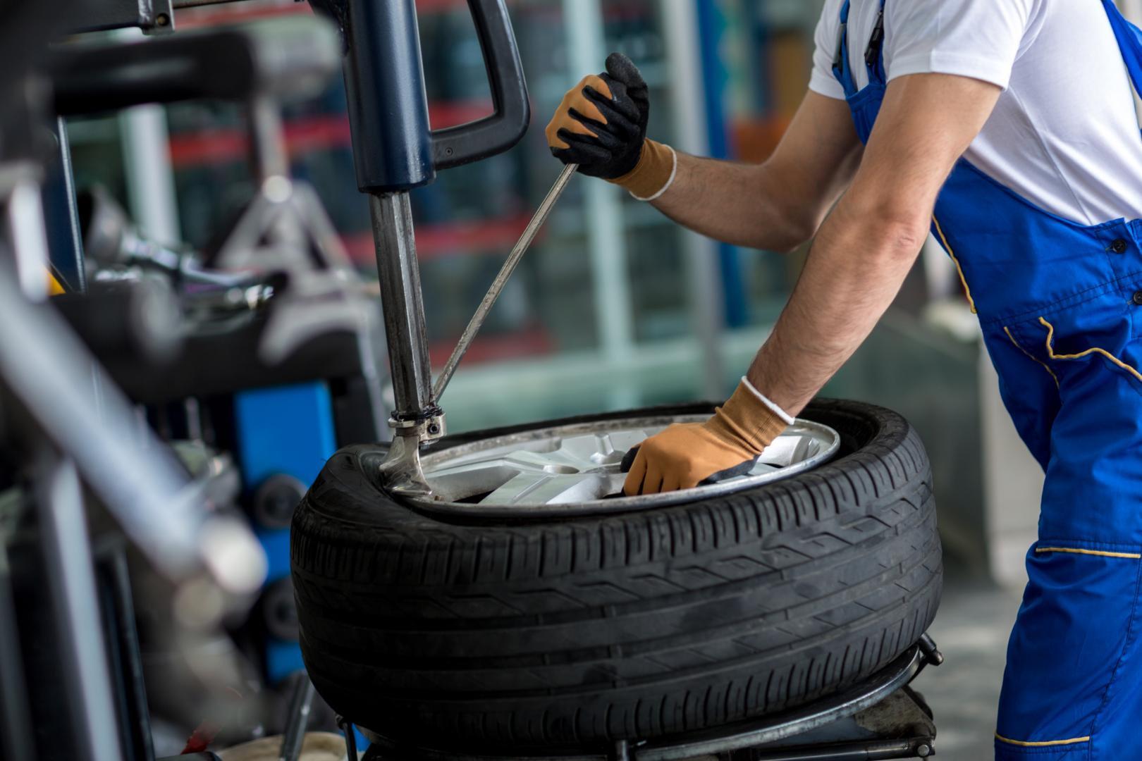 Pose de pneus