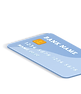 Ilustración de dos tarjetas de crédito flotando una obre la otra.