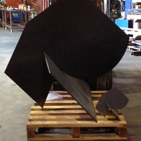 Lean Into It with steel maquette