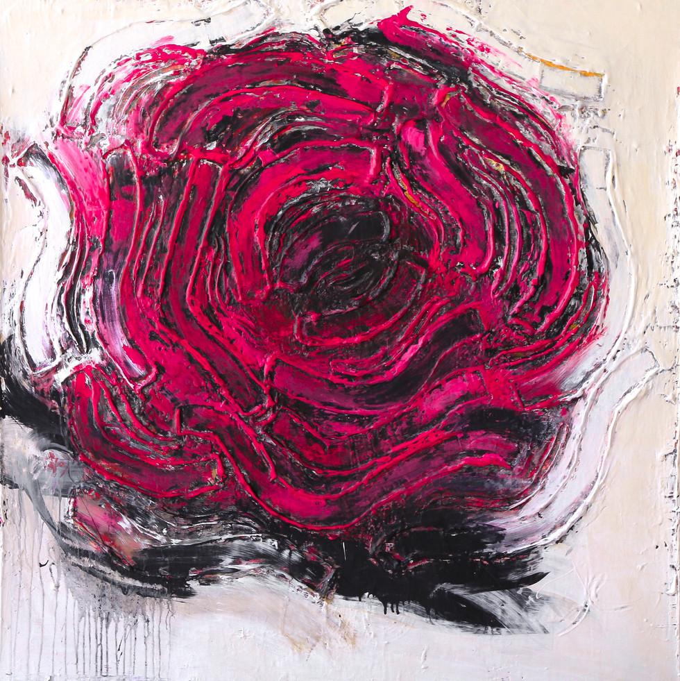 Passion 48 x 48in, 122 x 122cm, Acrylic