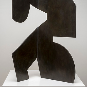 Bent (view 2), steel with patina