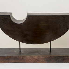 Vessel, fabricated steel with patina