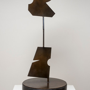 Totem, steel with patina, (view 2)