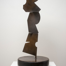 Totem, steel with patina, (view 1)